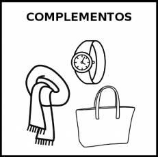 COMPLEMENTOS - Pictograma (blanco y negro)