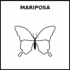 MARIPOSA - Pictograma (blanco y negro)
