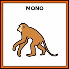 MONO (ANIMAL) - Pictograma (color)
