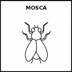 MOSCA - Pictograma (blanco y negro)