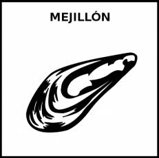 MEJILLÓN - Pictograma (blanco y negro)