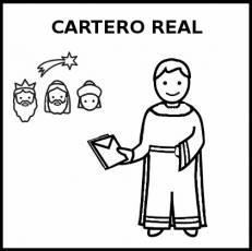 CARTERO REAL - Pictograma (blanco y negro)