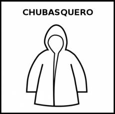 CHUBASQUERO - Pictograma (blanco y negro)