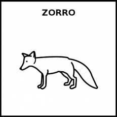 ZORRO - Pictograma (blanco y negro)