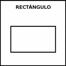 RECTÁNGULO - Pictograma (blanco y negro)
