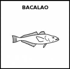 BACALAO (ANIMAL) - Pictograma (blanco y negro)