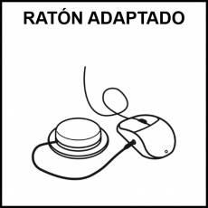 RATÓN ADAPTADO - Pictograma (blanco y negro)