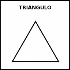TRIÁNGULO (FIGURA GEOMÉTRICA) - Pictograma (blanco y negro)