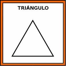 TRIÁNGULO (FIGURA GEOMÉTRICA) - Pictograma (color)