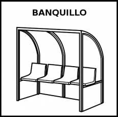 BANQUILLO - Pictograma (blanco y negro)