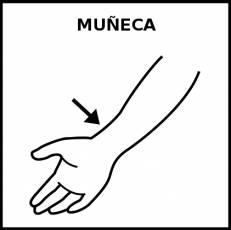 MUÑECA (ARTICULACIÓN) - Pictograma (blanco y negro)
