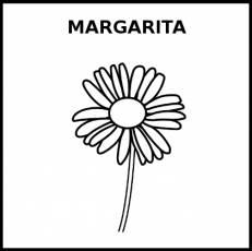 MARGARITA - Pictograma (blanco y negro)