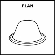 FLAN - Pictograma (blanco y negro)