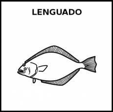 LENGUADO (ANIMAL) - Pictograma (blanco y negro)