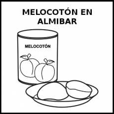 MELOCOTÓN EN ALMÍBAR - Pictograma (blanco y negro)
