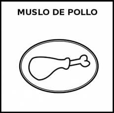 MUSLO DE POLLO - Pictograma (blanco y negro)