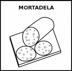 MORTADELA - Pictograma (blanco y negro)