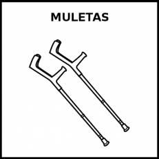 MULETAS - Pictograma (blanco y negro)