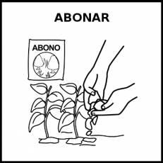 ABONAR - Pictograma (blanco y negro)