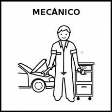 MECÁNICO - Pictograma (blanco y negro)