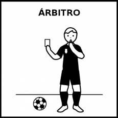 ÁRBITRO - Pictograma (blanco y negro)