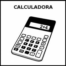 CALCULADORA - Pictograma (blanco y negro)