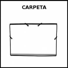 CARPETA - Pictograma (blanco y negro)