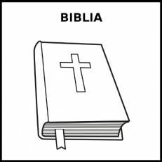 BIBLIA - Pictograma (blanco y negro)