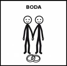 BODA - Pictograma (blanco y negro)