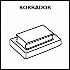 BORRADOR (PIZARRA) - Pictograma (blanco y negro)