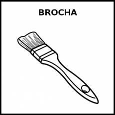 BROCHA - Pictograma (blanco y negro)