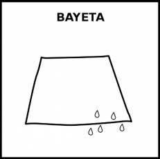 BAYETA - Pictograma (blanco y negro)