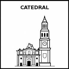 CATEDRAL - Pictograma (blanco y negro)