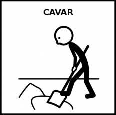 CAVAR - Pictograma (blanco y negro)