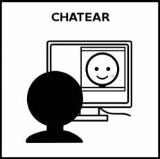CHATEAR - Pictograma (blanco y negro)