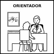 ORIENTADOR - Pictograma (blanco y negro)