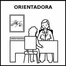 ORIENTADORA - Pictograma (blanco y negro)