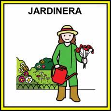JARDINERA (PROFESIÓN) - Pictograma (color)