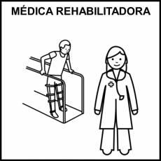 MÉDICA REHABILITADORA - Pictograma (blanco y negro)