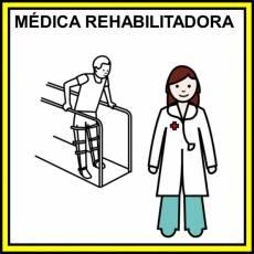 MÉDICA REHABILITADORA - Pictograma (color)