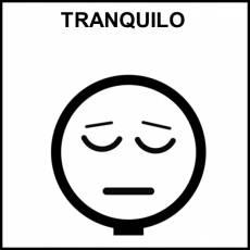 TRANQUILO - Pictograma (blanco y negro)