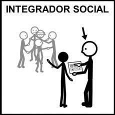 INTEGRADOR SOCIAL - Pictograma (blanco y negro)