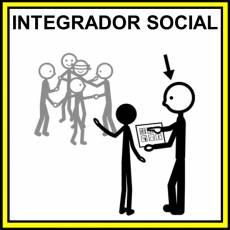 INTEGRADOR SOCIAL - Pictograma (color)