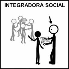 INTEGRADORA SOCIAL - Pictograma (blanco y negro)