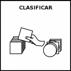 CLASIFICAR - Pictograma (blanco y negro)