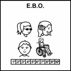 E.B.O. (Educación Básica Obligatoria) - Pictograma (blanco y negro)