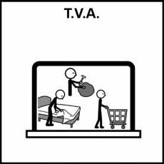 T.V.A. (Transición a la Vida Adulta) - Pictograma (blanco y negro)