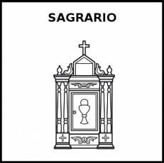 SAGRARIO - Pictograma (blanco y negro)