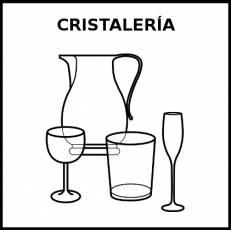 CRISTALERÍA - Pictograma (blanco y negro)