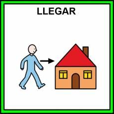 LLEGAR - Pictograma (color)